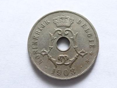 25 cent 1908, Belgie.
