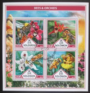 Šalamounovy ostrovy 2017 Včely a orchideje Mi# 4512-15 Kat 12€ 1423