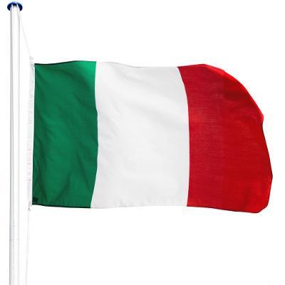 tectake 402849 hliníkový stožár s vlajkou - itálie