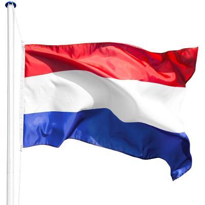 tectake 402855 hliníkový stožár s vlajkou - holandsko