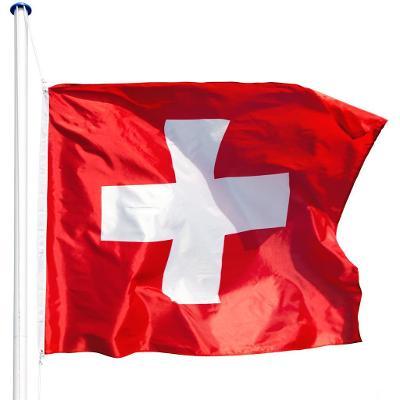 tectake 402856 hliníkový stožár s vlajkou - švýcarsko