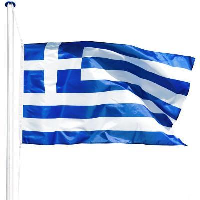 tectake 402857 hliníkový stožár s vlajkou - řecko