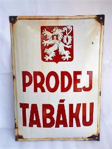 TABÁK - smalt cedule - signa - č 2