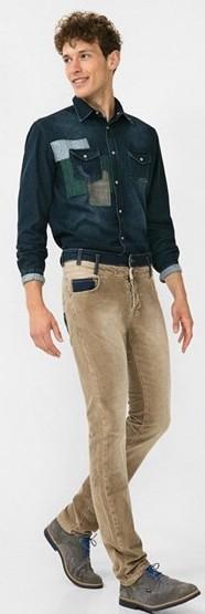 DESIGUAL PANT_PANA-PATCH-32 L CAMEL/pánské stylové kalhoty/ w32(m-l)