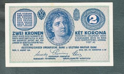2 koruny 1914 serie C stav 0