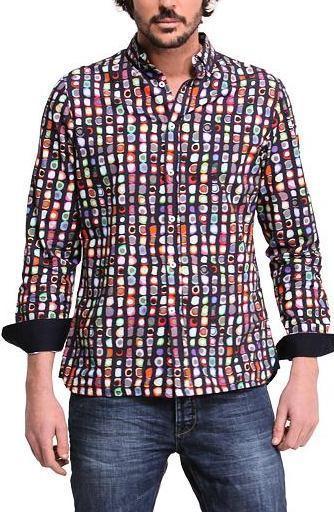 DESIGUAL cam_Mimitocro luxusní pánská košile// XL nová 1,-