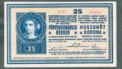 25 korun 1918 serie 3137 stav 0