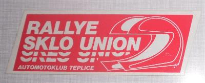 SAMOLEPKA RALLYE SKLO UNION TEPLICE AUTOMOTOKLUB  - 11, x 4 cm