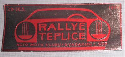 NALEPOVACÍ KUPÓN - RALLYE TEPLICE -  AMK SVAZARM   r. 1971