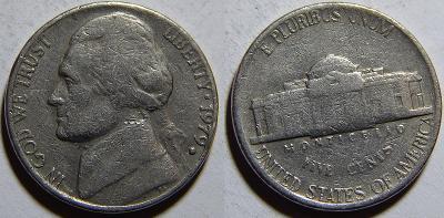 USA 5 Cents 1979D F-VF č11413