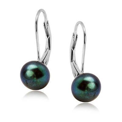 Stříbrné náušnice Staviori KSN4633 s přírodní perlou, sleva 25 %