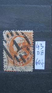 USA - razítkovaná známka katalogové číslo 43 DZ