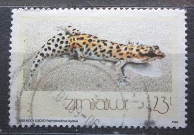 Zimbabwe 1989 Ještěrka, Pachydactylus tigrinus Mi# 397 1418