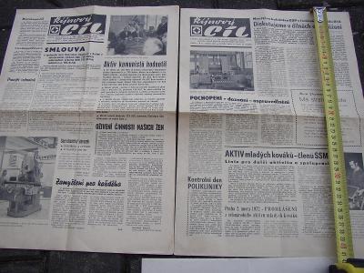 2 x noviny TOS Kuřim 1972