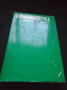 Kniha/Kriminalistika - Ján Pješcak a kolektiv 1981/426 str....(11800)