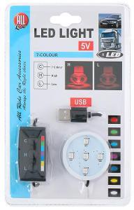 AllRide Podsvícení LED podstavec 7 barev USB
