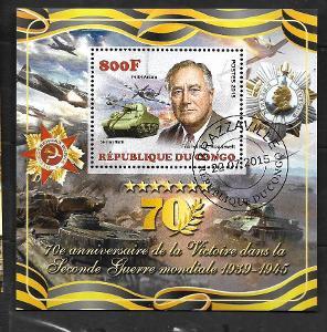 Kongo 2015 - Roosevelt, tank Sherman Firefly, letadlo Mustang