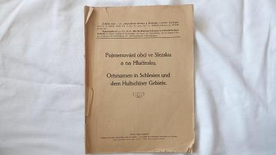 Pojmenování obcí ve Slezsku a na Hlučínsku 1924-Sudety-pohraničí