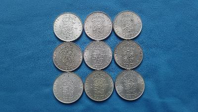 07. Švédsko - sbírka 9 dvoukorunových mincí z let 1952-1965