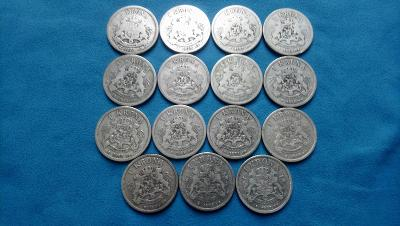 08. Švédsko - sbírka 15 mincí v hodnotě 1 koruny z let 1875-1907