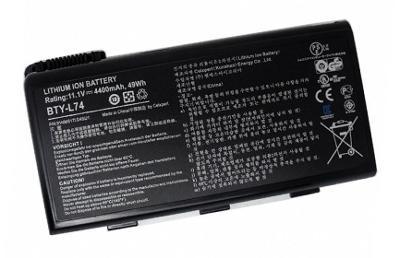 baterie BTY-L74 pro notebooky MSI řad GE700,CX720,CR700 a další (49Wh)