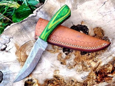 23/ Damaškový lovecky nůž. Rucni vyroba.