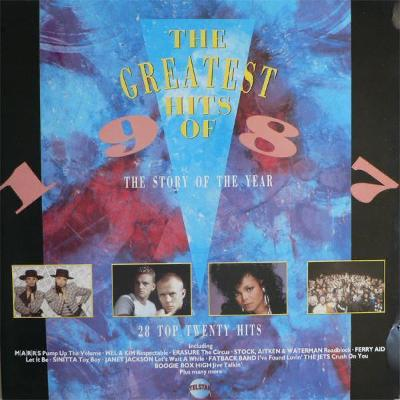 2LP- VA- The Greatest Hits Of 1987 (Depeche Mode, Iggy Pop, Erasure..)