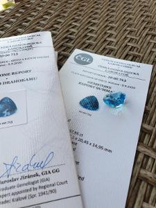 Modrý Topaz ( 48 carátů )