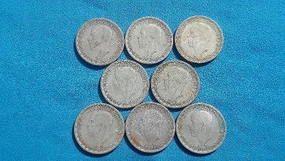 31. Švédsko - sbírka 8 mincí 1 koruna z let 1943-1950