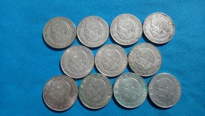 33. Švédsko - sbírka 11 mincí 1 koruna z let 1954-1968
