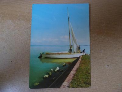 pohlednice Madarsko Balaton plachetnice