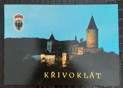 Rakovník Křivoklát večerní pohled na hrad