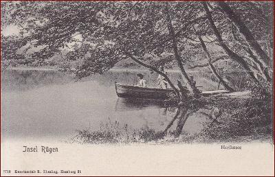 Insel Rügen * Herthasee, lidé, loďka * Německo * Z1150