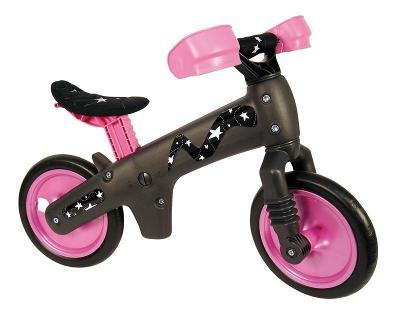 BELLELLI černo-růžové odrážedlo dětské plastové