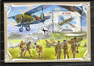 Gabon - letadla - druhá světová válka - Jakovlev JAK 7