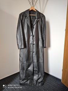 Kožený kabát - dlouhý
