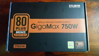 Zdroj herní, nový, ZALMAN GIGAMAX 750W