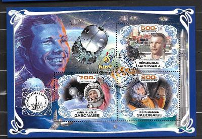 Gabon - kosmos - Gagarin, Vostok 1