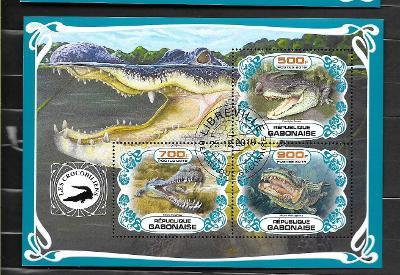 Gabon - krokodýl mořský, gaviál indický, aligátor severoamerický