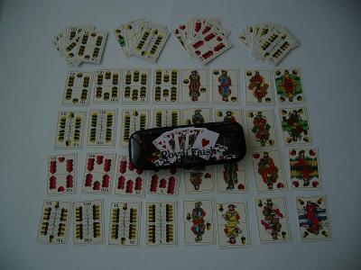 """Staré hrací reklamní karty v pouzdře """"Casino"""""""