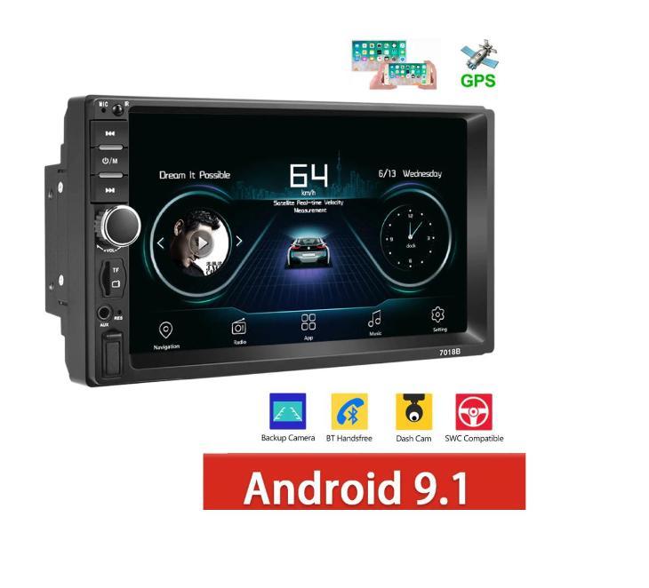 NOVÉ 2DIN UNIVERZÁLNÍ AUTORÁDIO S KAMEROU, ANDROID 9.1, WIFI GPS USB - TV, audio, video