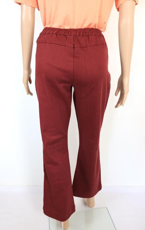 IN DENIM  pohodlné vínové rifle/ kalhoty velikost M - Dámské oblečení