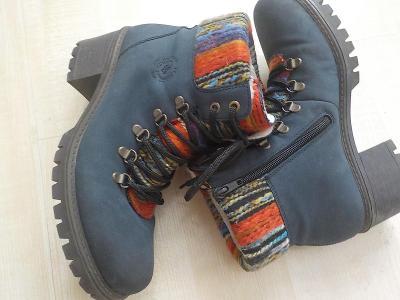 Rieker kotnikove boty s kožiskem vel 39
