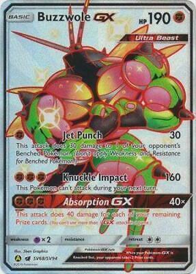Pokemon TCG karty shining Buzzwole GX  Hidden fates
