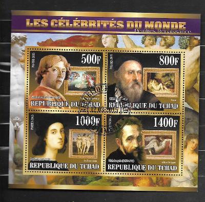Čad 2015 - akty - Botticelli, Tizian, Raffael Santi, Michelangelo