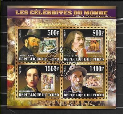 Čad 2015 - akty -  Cézanne, Gauguin, Degas, Renoir