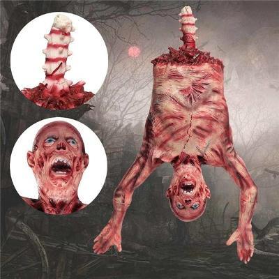 Závěsné torzo těla - halloweenská strašidelná rekvizita