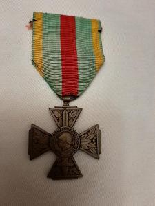 Kříž pro dobrovolného bojovníka 1914-1918, TOP, bronz, Francie, legie
