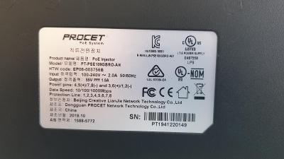 průmyslový POE injektor PROCET 83W