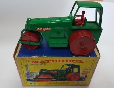 Matchbox Lesney England King Size K9 Aveling Barford Road Roller,box E